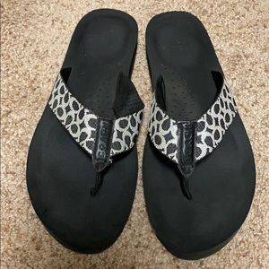 Women's Coach Jessalyn flip flops, used size 9